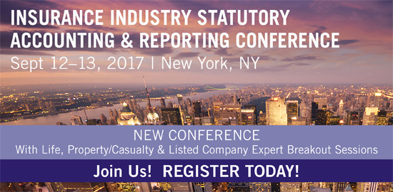 Insurance Industry Statutory Accounting and Reporting Conference. Click here to Register.